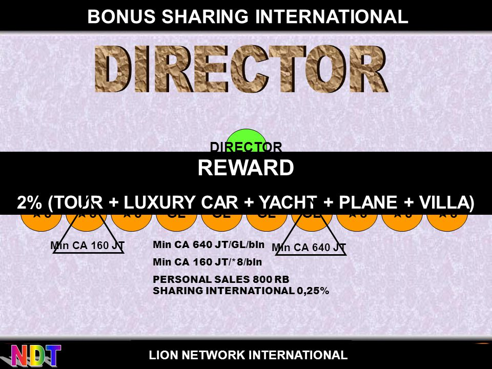 DIRECTOR REWARD BONUS SHARING INTERNATIONAL