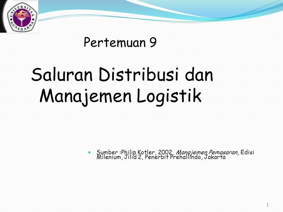 Pertemuan 9 Saluran Distribusi dan Manajemen Logistik