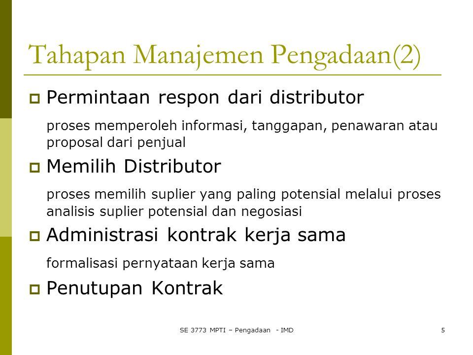 Tahapan Manajemen Pengadaan(2)