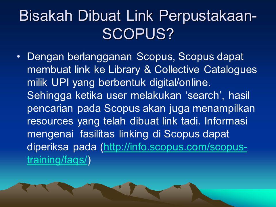 Bisakah Dibuat Link Perpustakaan- SCOPUS