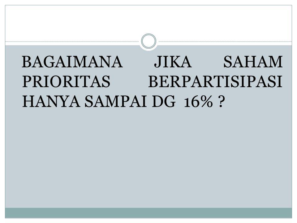BAGAIMANA JIKA SAHAM PRIORITAS BERPARTISIPASI HANYA SAMPAI DG 16%