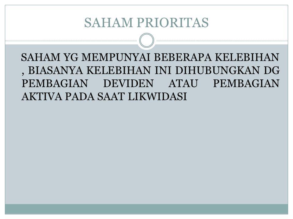 SAHAM PRIORITAS