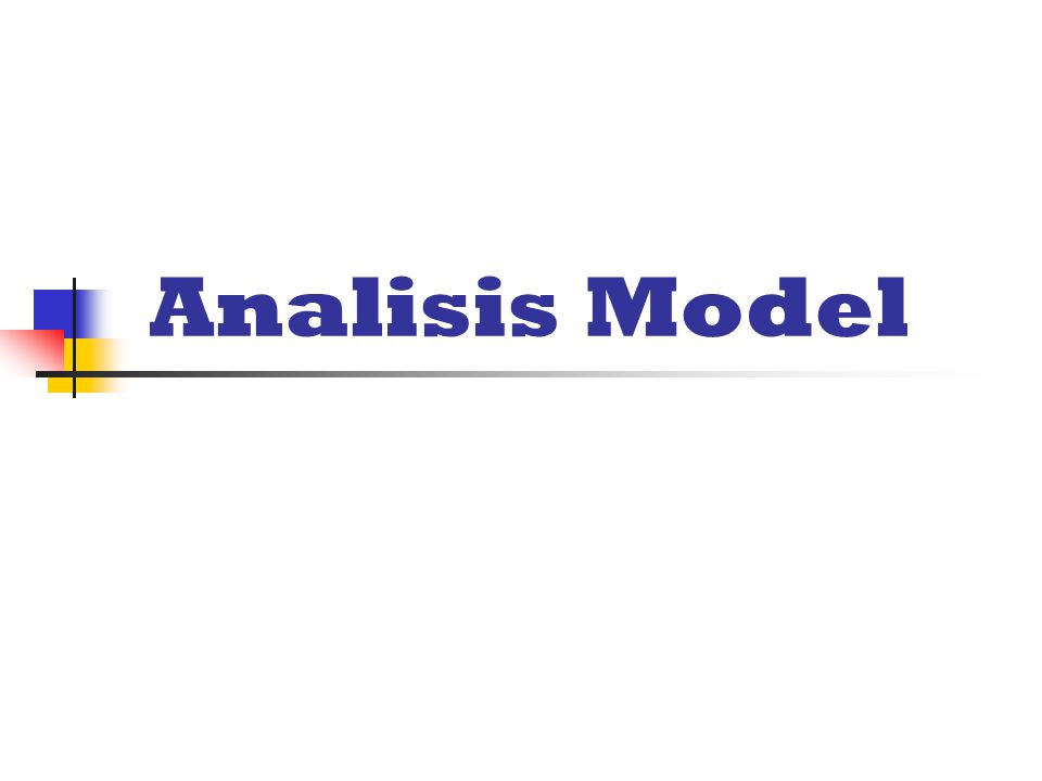 Analisis Model
