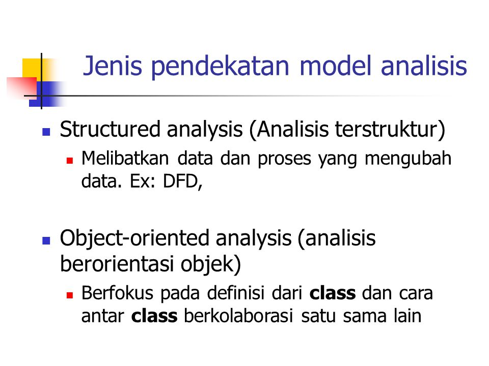 Jenis pendekatan model analisis