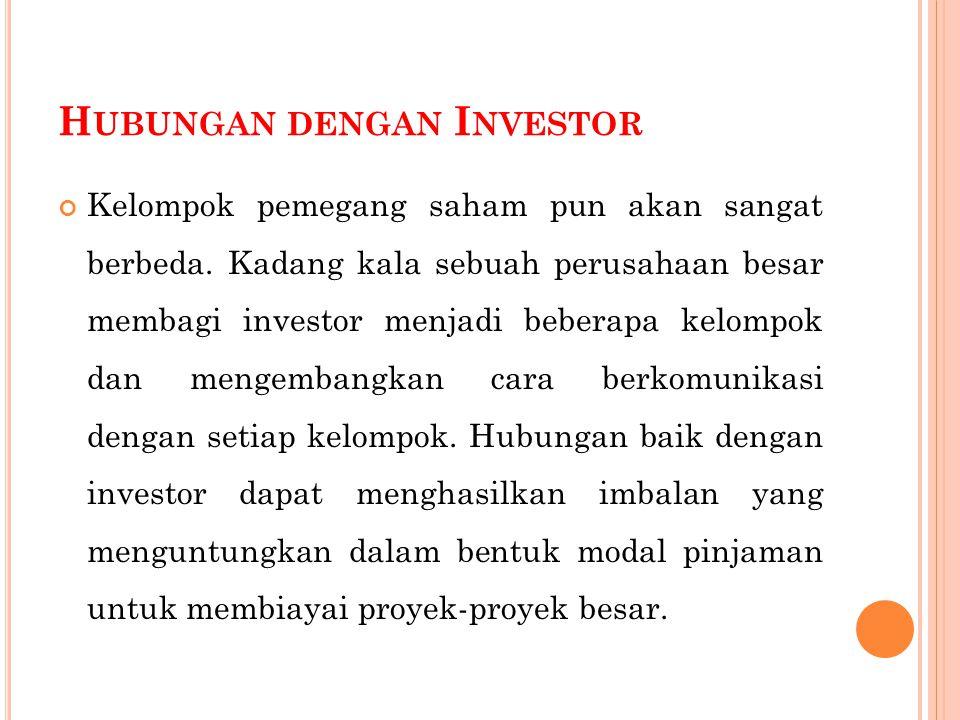 Hubungan dengan Investor