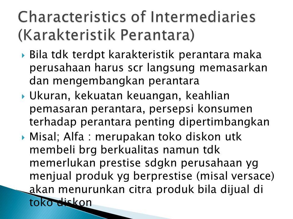 Characteristics of Intermediaries (Karakteristik Perantara)