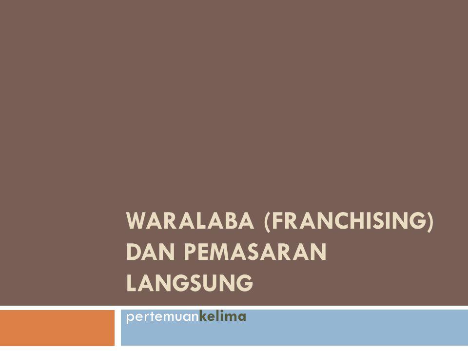 WARALABA (FRANCHISING) DAN PEMASARAN LANGSUNG