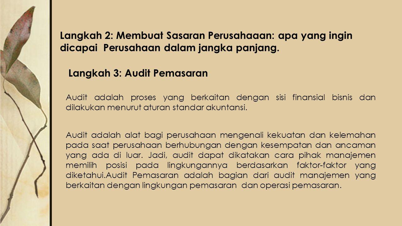 Langkah 3: Audit Pemasaran