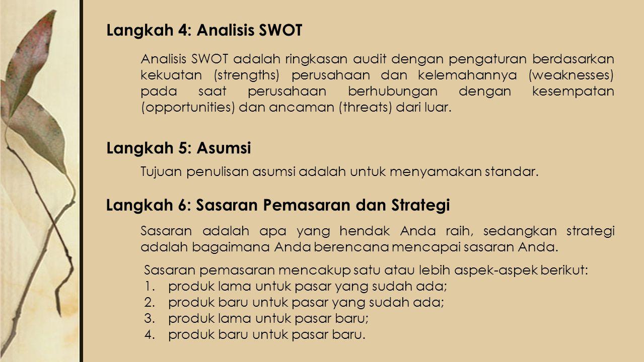 Langkah 4: Analisis SWOT