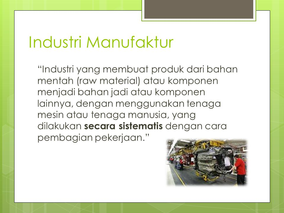 Industri Manufaktur