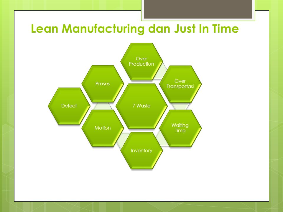 Lean Manufacturing dan Just In Time