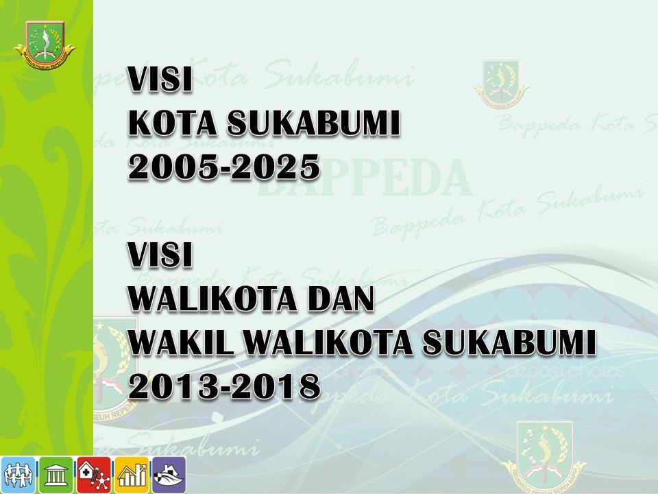 VISI KOTA SUKABUMI 2005-2025 WALIKOTA DAN WAKIL WALIKOTA SUKABUMI 2013-2018