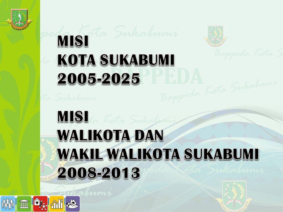 MISI KOTA SUKABUMI 2005-2025 WALIKOTA DAN WAKIL WALIKOTA SUKABUMI 2008-2013