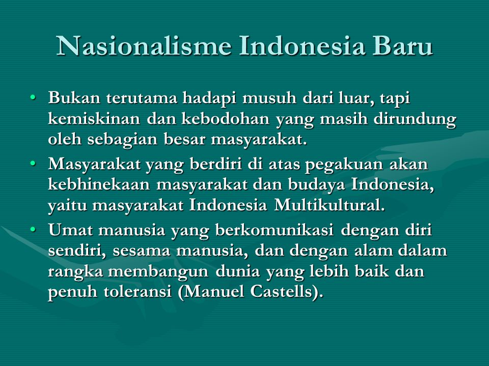 Nasionalisme Indonesia Baru