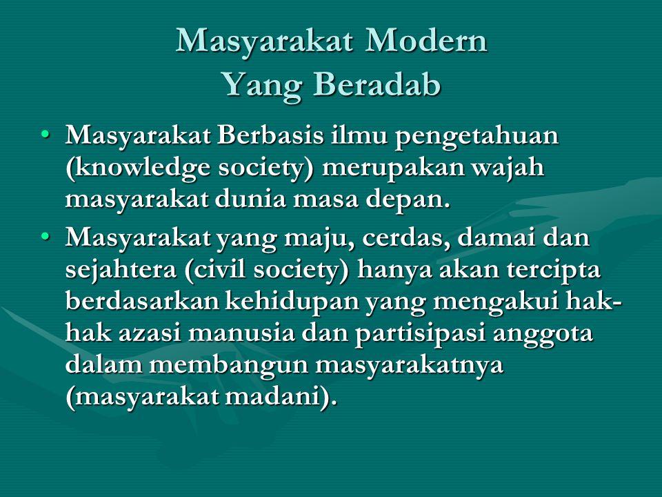Masyarakat Modern Yang Beradab