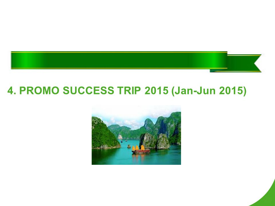 4. PROMO SUCCESS TRIP 2015 (Jan-Jun 2015)