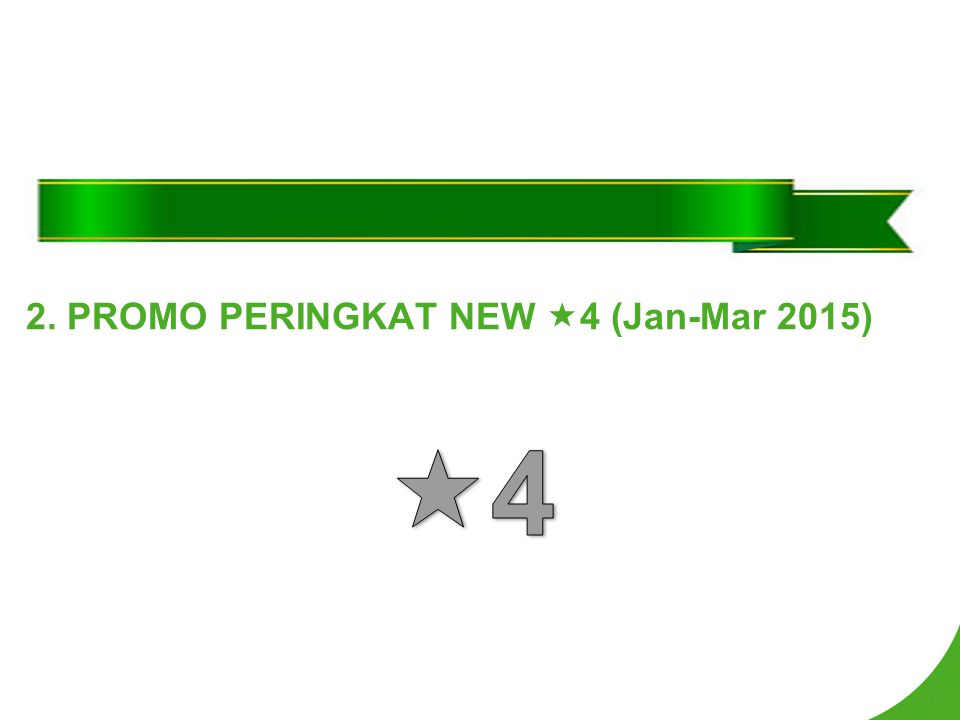 2. PROMO PERINGKAT NEW 4 (Jan-Mar 2015)