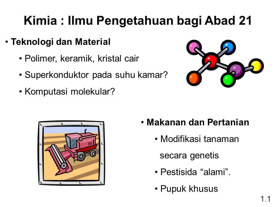 Kimia : Ilmu Pengetahuan bagi Abad 21