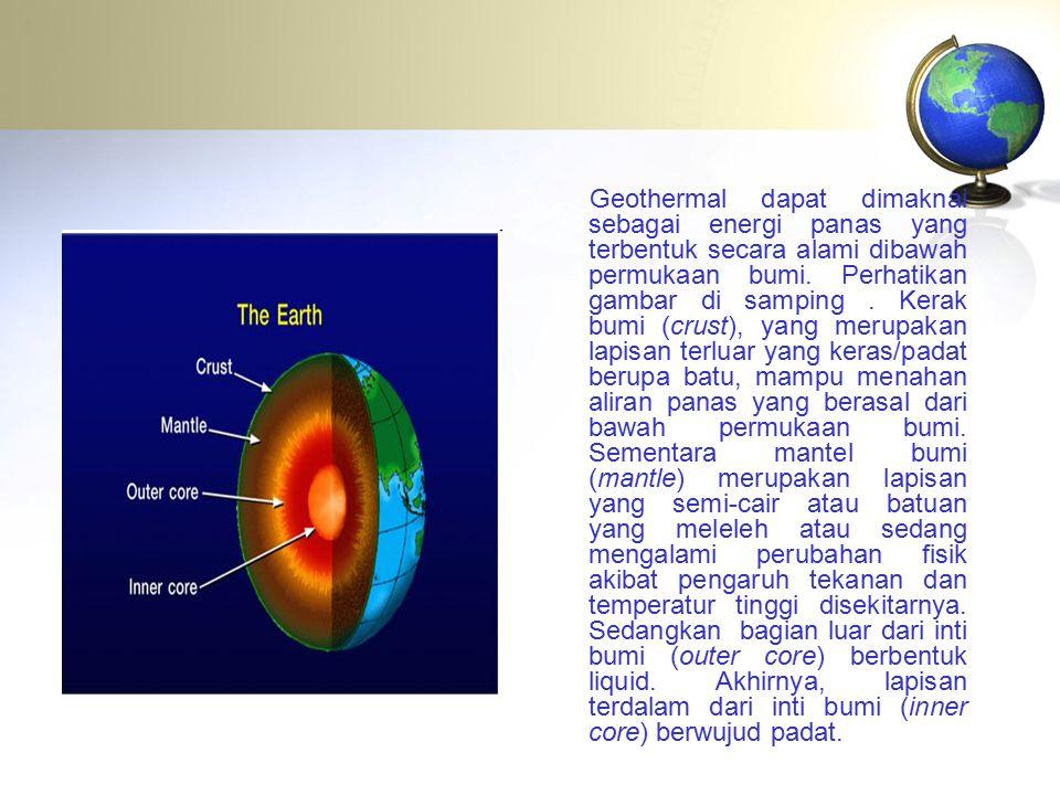 Geothermal dapat dimaknai sebagai energi panas yang terbentuk secara alami dibawah permukaan bumi.