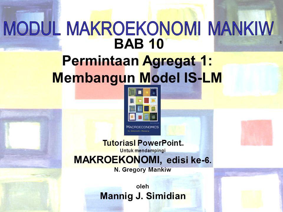 Tutoriasl PowerPoint MAKROEKONOMI, edisi ke-6.