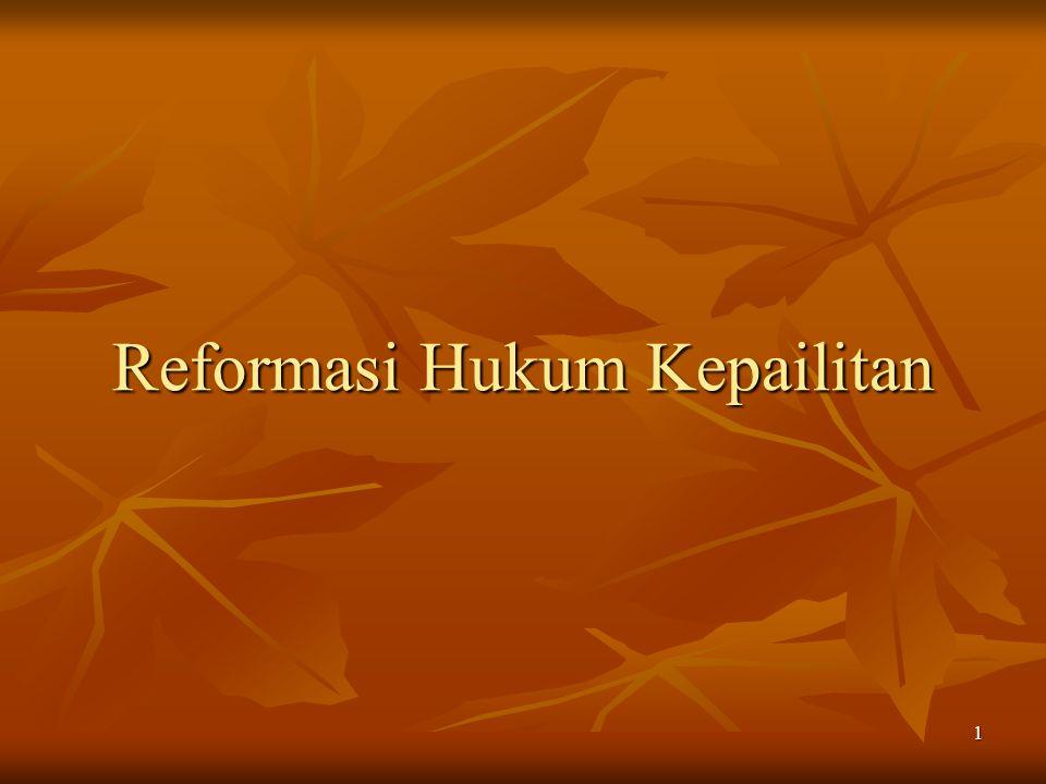 Reformasi Hukum Kepailitan