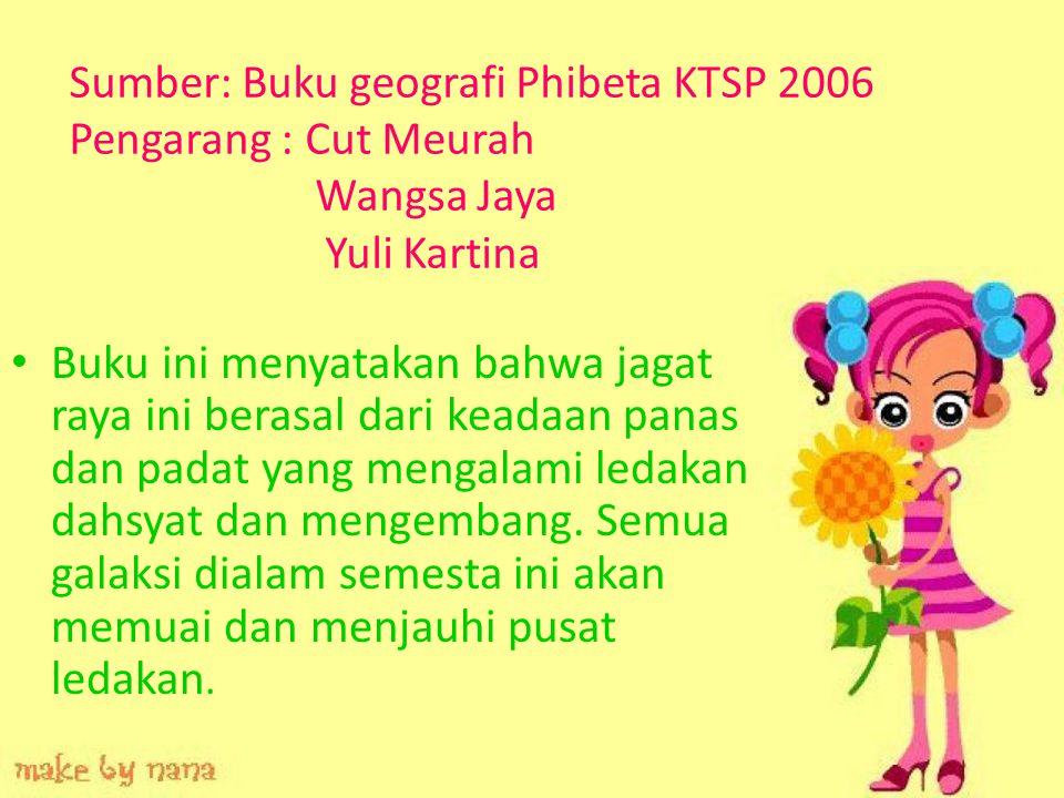 Sumber: Buku geografi Phibeta KTSP 2006 Pengarang : Cut Meurah