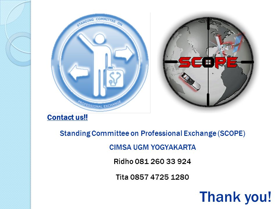Standing Committee on Professional Exchange (SCOPE)