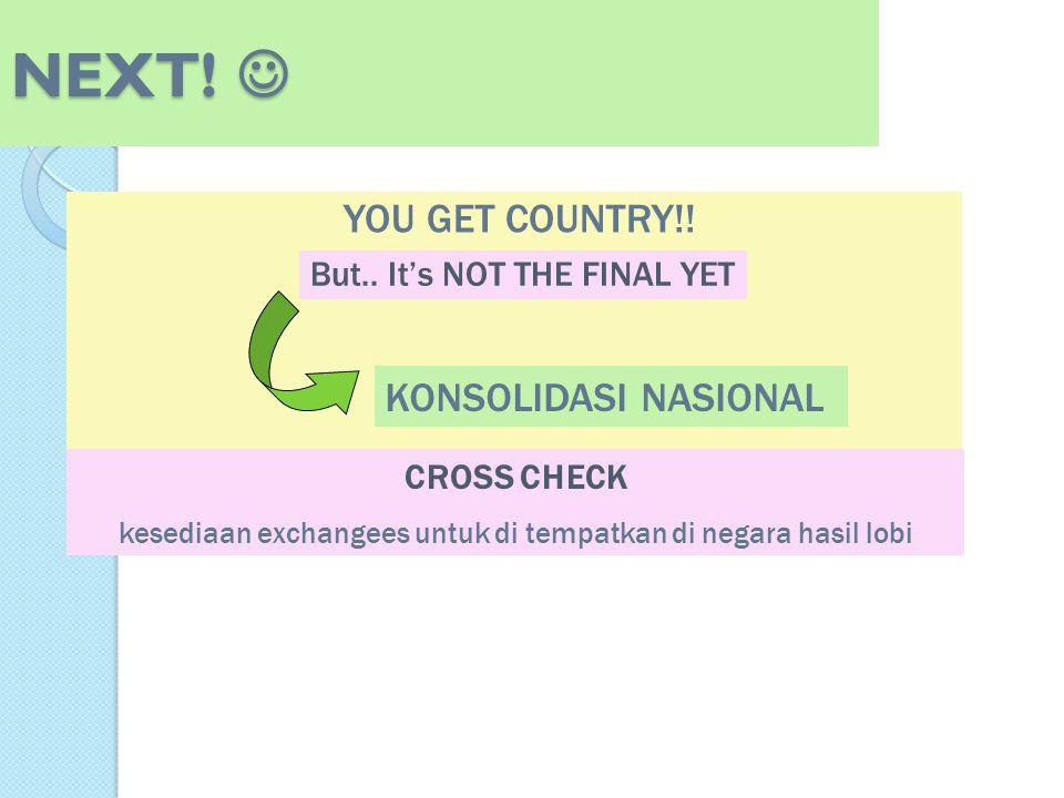 kesediaan exchangees untuk di tempatkan di negara hasil lobi