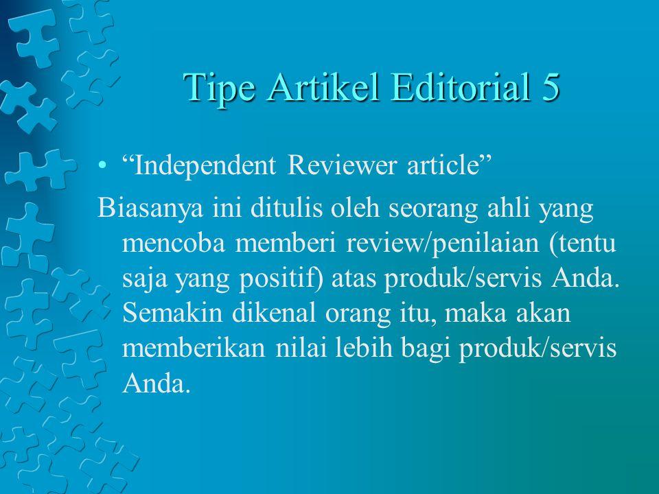 Tipe Artikel Editorial 5