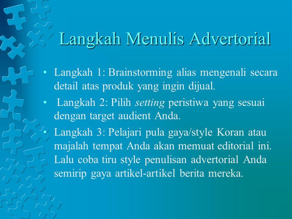 Langkah Menulis Advertorial