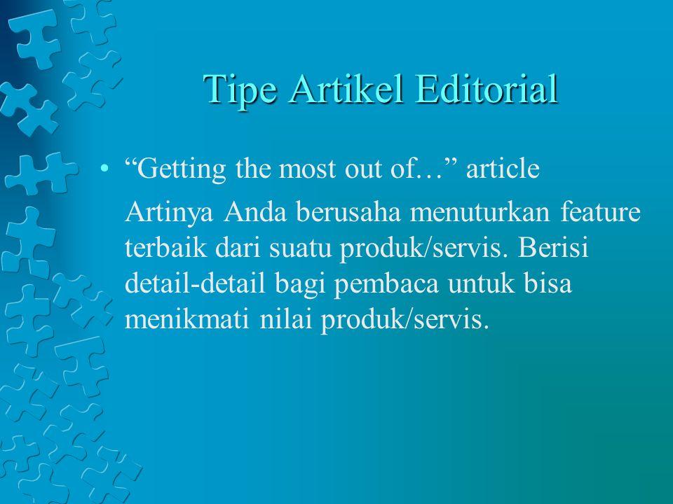 Tipe Artikel Editorial