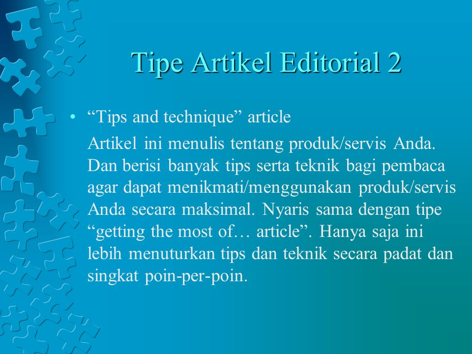 Tipe Artikel Editorial 2