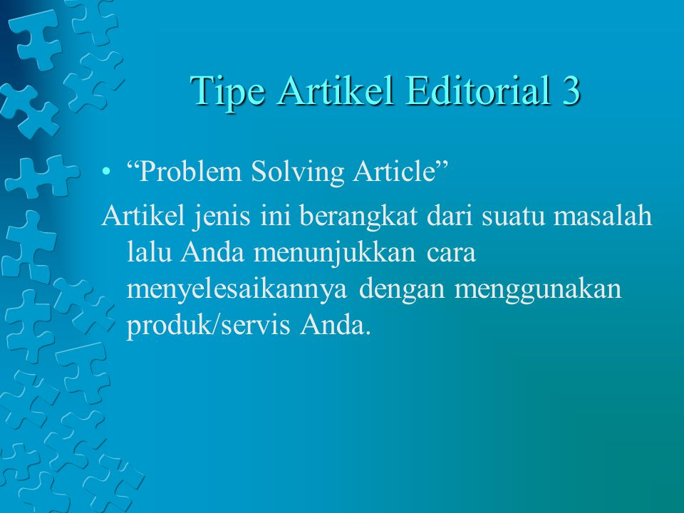 Tipe Artikel Editorial 3