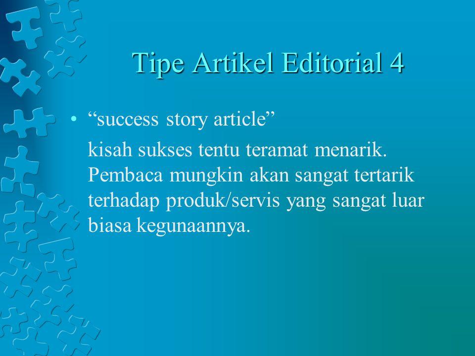 Tipe Artikel Editorial 4