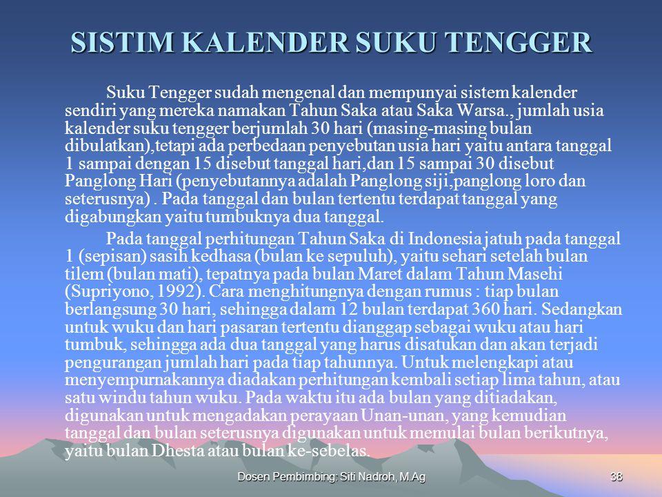 SISTIM KALENDER SUKU TENGGER