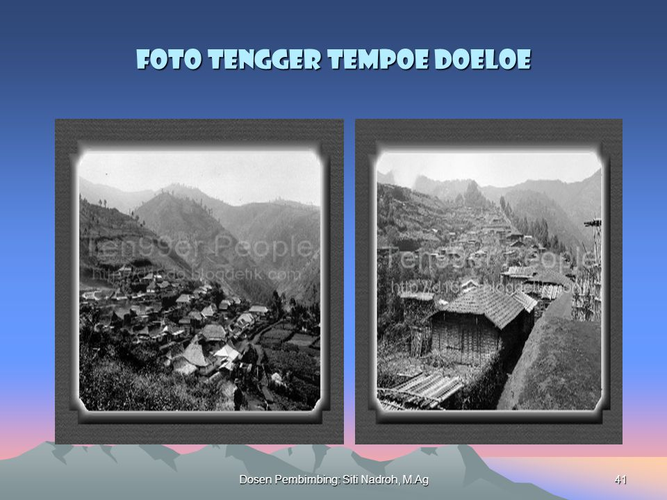 Foto Tengger Tempoe Doeloe