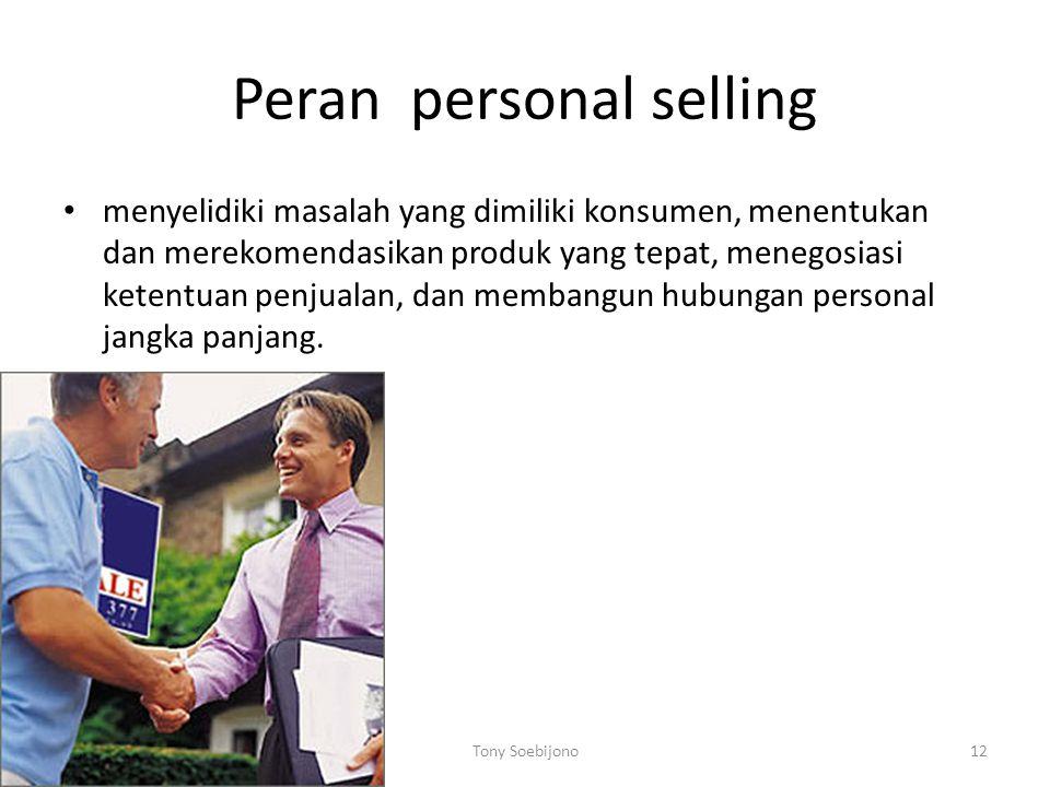 Peran personal selling