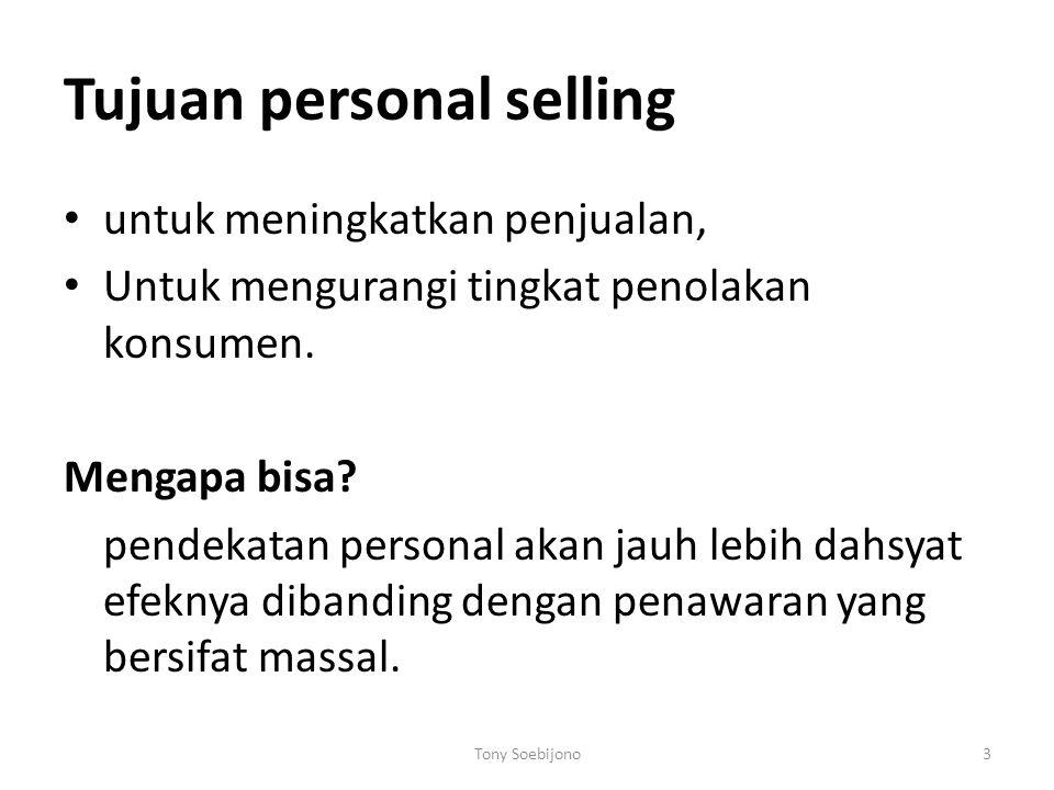 Tujuan personal selling