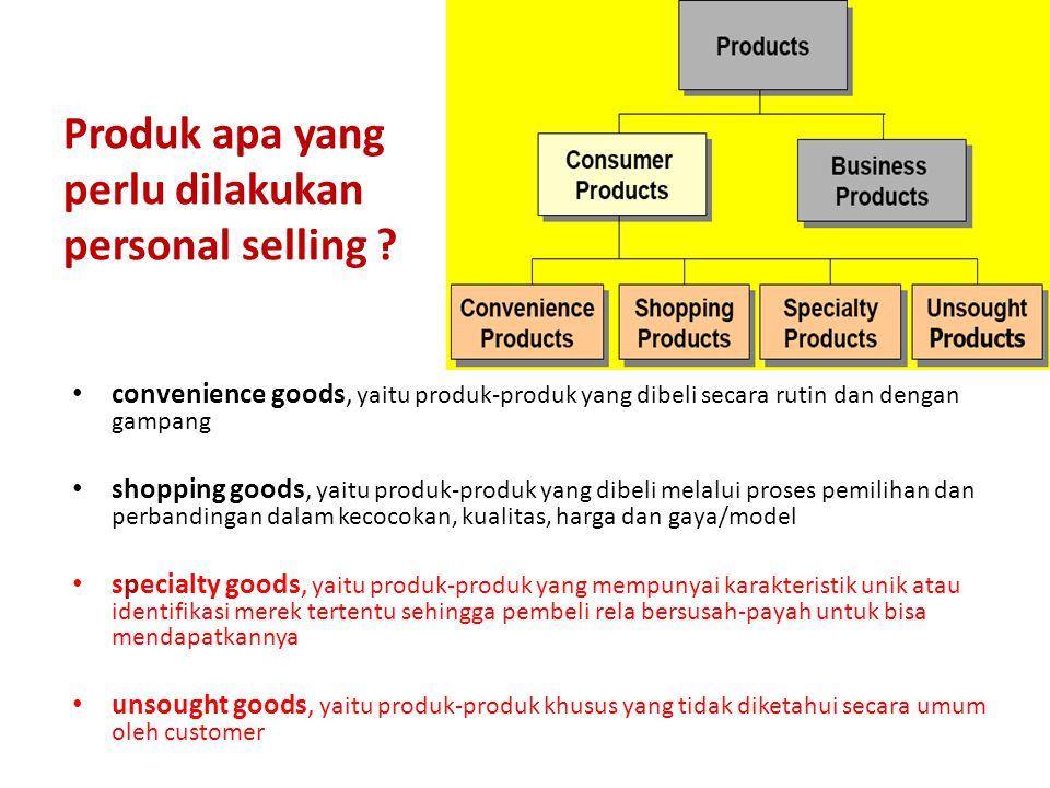 Produk apa yang perlu dilakukan personal selling