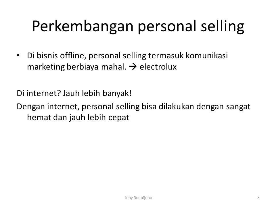 Perkembangan personal selling