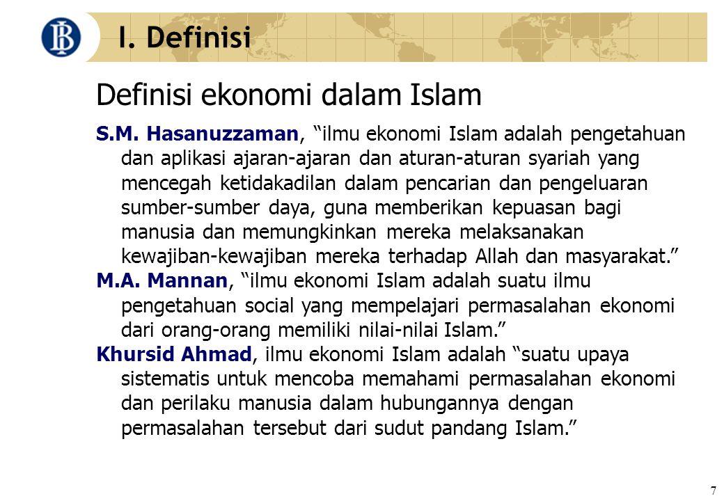Definisi ekonomi dalam Islam