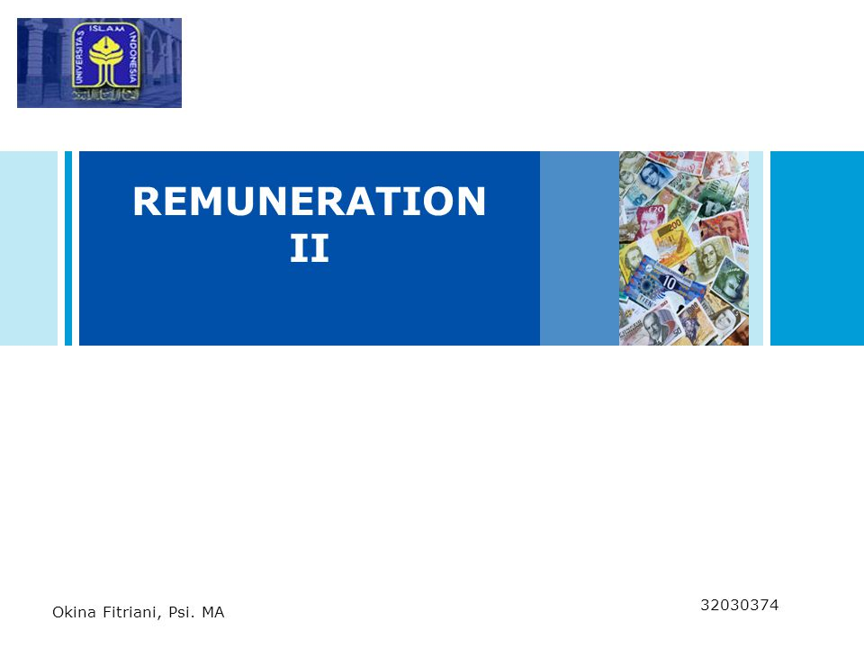 REMUNERATION II Notes go here.