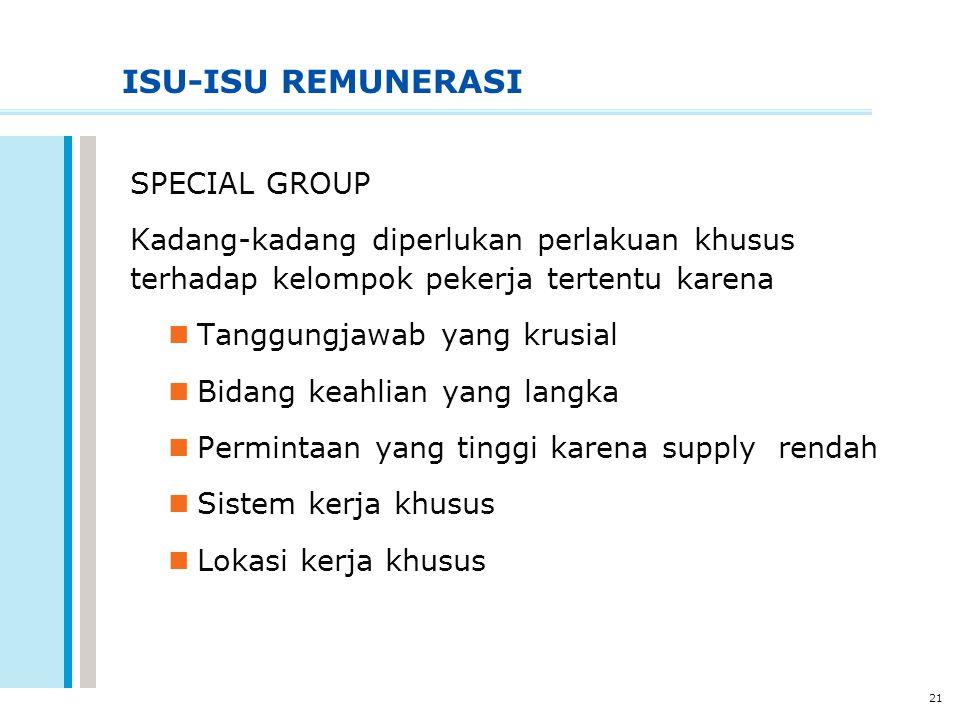 ISU-ISU REMUNERASI SPECIAL GROUP
