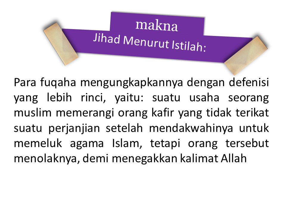 makna Jihad Menurut Istilah: