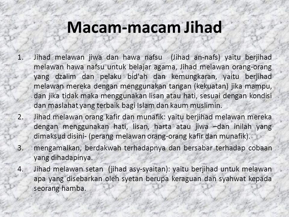Macam-macam Jihad