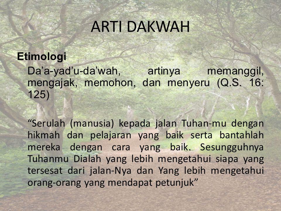 ARTI DAKWAH