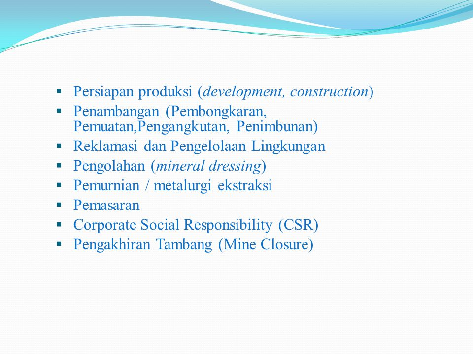 Persiapan produksi (development, construction)