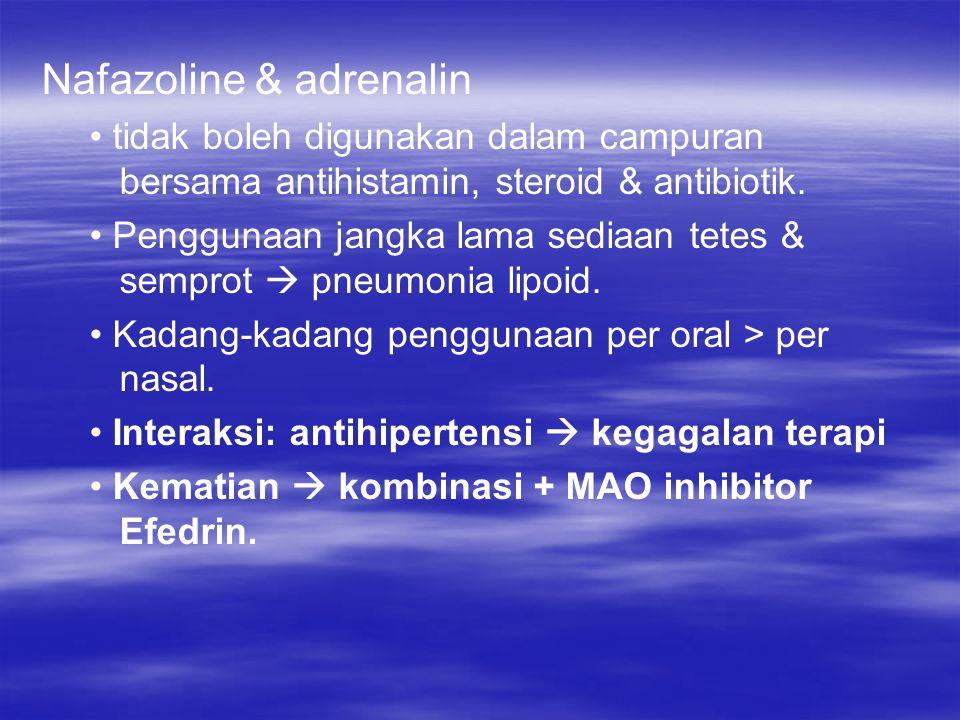 Nafazoline & adrenalin