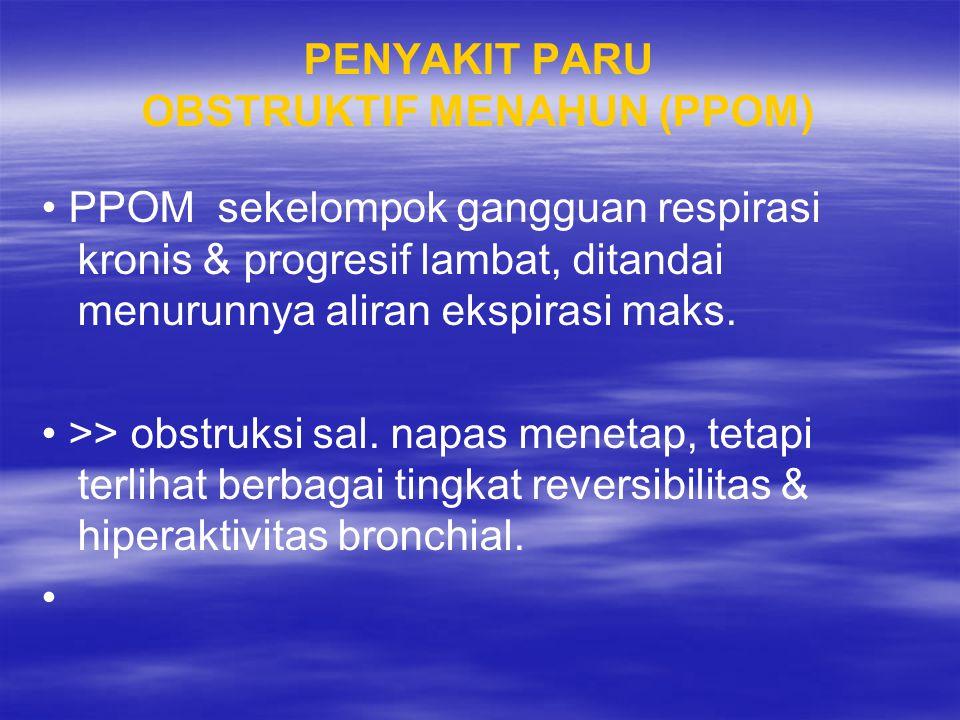 PENYAKIT PARU OBSTRUKTIF MENAHUN (PPOM)