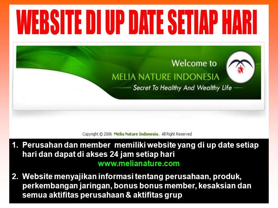 WEBSITE DI UP DATE SETIAP HARI